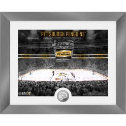 Pittsburgh Penguins Art Deco Silver Coin Photo Mint