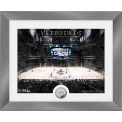 Vancouver Canucks Art Deco Silver Coin Photo Mint