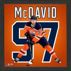 Connor McDavid Impact Jersey Frame