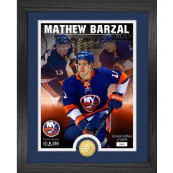 Mathew Barzal Signature Series Bronze Coin Photo Mint