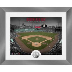 Boston Red Sox Art Deco Silver Coin Photo Mint