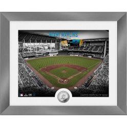 Miami Marlins Art Deco Silver Coin Photo Mint
