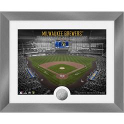 Milwaukee Brewers Art Deco Silver Coin Photo Mint