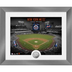 New York Mets Art Deco Silver Coin Photo Mint
