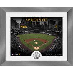 San Diego Padres Art Deco Silver Coin Photo Mint