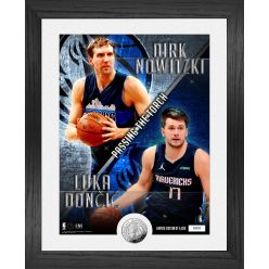 "Dirk Nowitzki – Luka Doncic ""Passing the Torch"" Silver Coin Photo Mint"