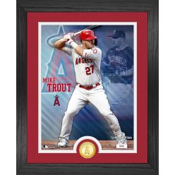 Mike Trout  Los Angeles Angels Bronze Coin Photo Mint