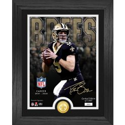 Drew Brees  NFL Career Bronze Coin Photo Mint