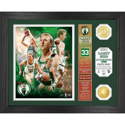 """Larry Bird  """"Hall of Fame"""" Banner Bronze Coin Photo Mint"""