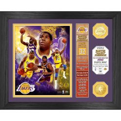 """Magic Johnson """"Hall of Fame"""" Banner Bronze Coin Photo Mint"""
