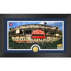 Wrigley Field Chicago Cubs Panoramic Bronze Coin Photo Mint