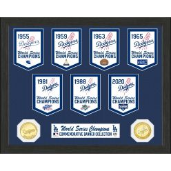 Los Angeles Dodgers Commemorative Champs Banners Bronze Coin Photo Mint