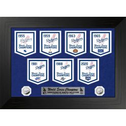 Los Angeles Dodgers Deluxe Commemorative Champs Banners Gold Coin Photo Mint
