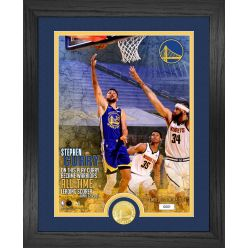 Steph Curry Leading Scorer Bronze Coin Photo Mint