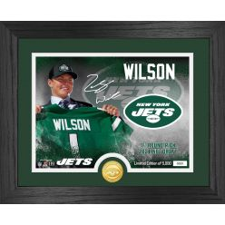 Zach Wilson New York Jets 2021 NFL Draft 1st Round Bronze Coin Photo Mint