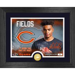 Justin Fields Chicago Bears 2021 NFL Draft 1st Round Bronze Coin Photo Mint