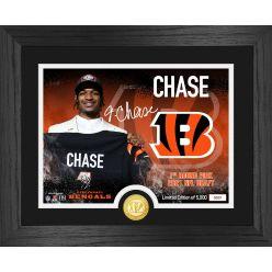 Ja'Marr Chase Cincinnati Bengals 2021 NFL Draft 1st Round Bronze Coin Photo Mint