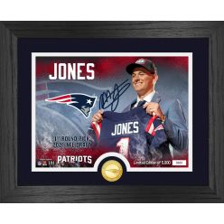 Mac Jones New England Patriots 2021 NFL Draft 1st Round Bronze Coin Photo Mint