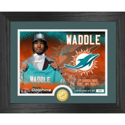 Jaylen Waddle Miami Dolphins 2021 NFL Draft 1st Round Bronze Coin Photo Mint
