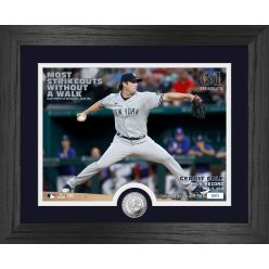 Gerrit Cole Most Strikeouts Without a Walk Silver Coin Photo Mint