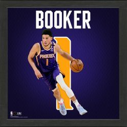 Devin Booker Impact Jersey Framed Photo