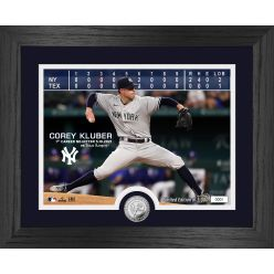 Corey Kluber No-Hitter Silver Coin Photo Mint