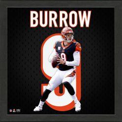 Joe Burrow Impact Jersey Frame