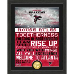 Atlanta Falcons House Rules Bronze Coin Photo Mint