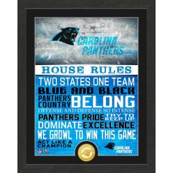Carolina Panthers House Rules Bronze Coin Photo Mint