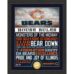 Chicago Bears House Rules Bronze Coin Photo Mint