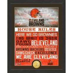 Cleveland Browns House Rules Bronze Coin Photo Mint