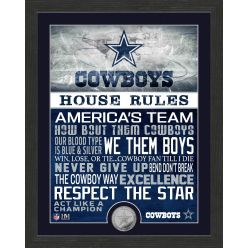 Dallas Cowboys House Rules Minted Coin Photo Mint