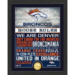 Denver Broncos House Rules Bronze Coin Photo Mint