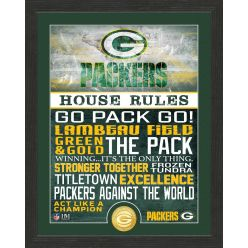 Green Bay Packers House Rules Bronze Coin Photo Mint