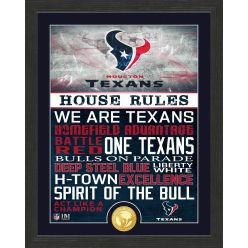 Houston Texans House Rules Bronze Coin Photo Mint