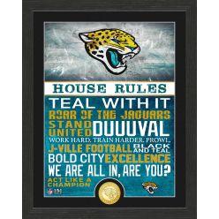 Jacksonville Jaguars House Rules Bronze Coin Photo Mint