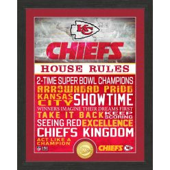 Kansas City Chiefs House Rules Bronze Coin Photo Mint