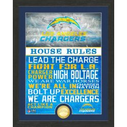 Los Angeles Chargers House Rules Bronze Coin Photo Mint