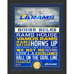 Los Angeles Rams House Rules Bronze Coin Photo Mint