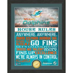 Miami Dolphins House Rules Bronze Coin Photo Mint