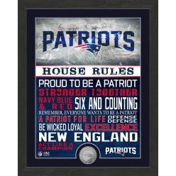 New England Patriots House Rules Bronze Coin Photo Mint