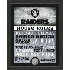 Las Vegas Raiders House Rules Bronze Coin Photo Mint