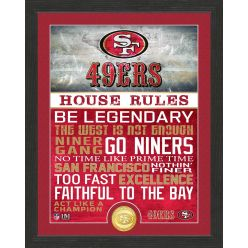 San Francisco 49ers House Rules Bronze Coin Photo Mint