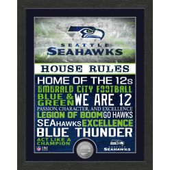 Seattle Seahawks House Rules Minted Coin Photo Mint