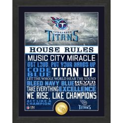 Tennessee Titans House Rules Bronze Coin Photo Mint