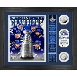 Tampa Bay Lightning 2021 Stanley Cup Final Champions Banner Silver Coin Photo Mint