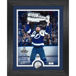 Victor Hedman Tampa Bay Lightning Stanley Cup Trophy Select Series Silver Coin Photo Mint