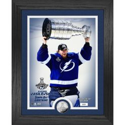 Andrei Vasilevskiy Tampa Bay Lightning Stanley Cup Trophy Select Series Silver Coin Photo Mint