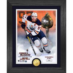 Connor McDavid 2021 Hart Memorial Trophy Winner Bronze Coin Photo Mint