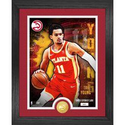 Trae Young Atlanta Hawks Dominator Bronze Coin Photo Mint
